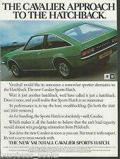 1979 VAUXHALL CAVALIER advertisement Cavalier Sports Hatch, British advert UK GM