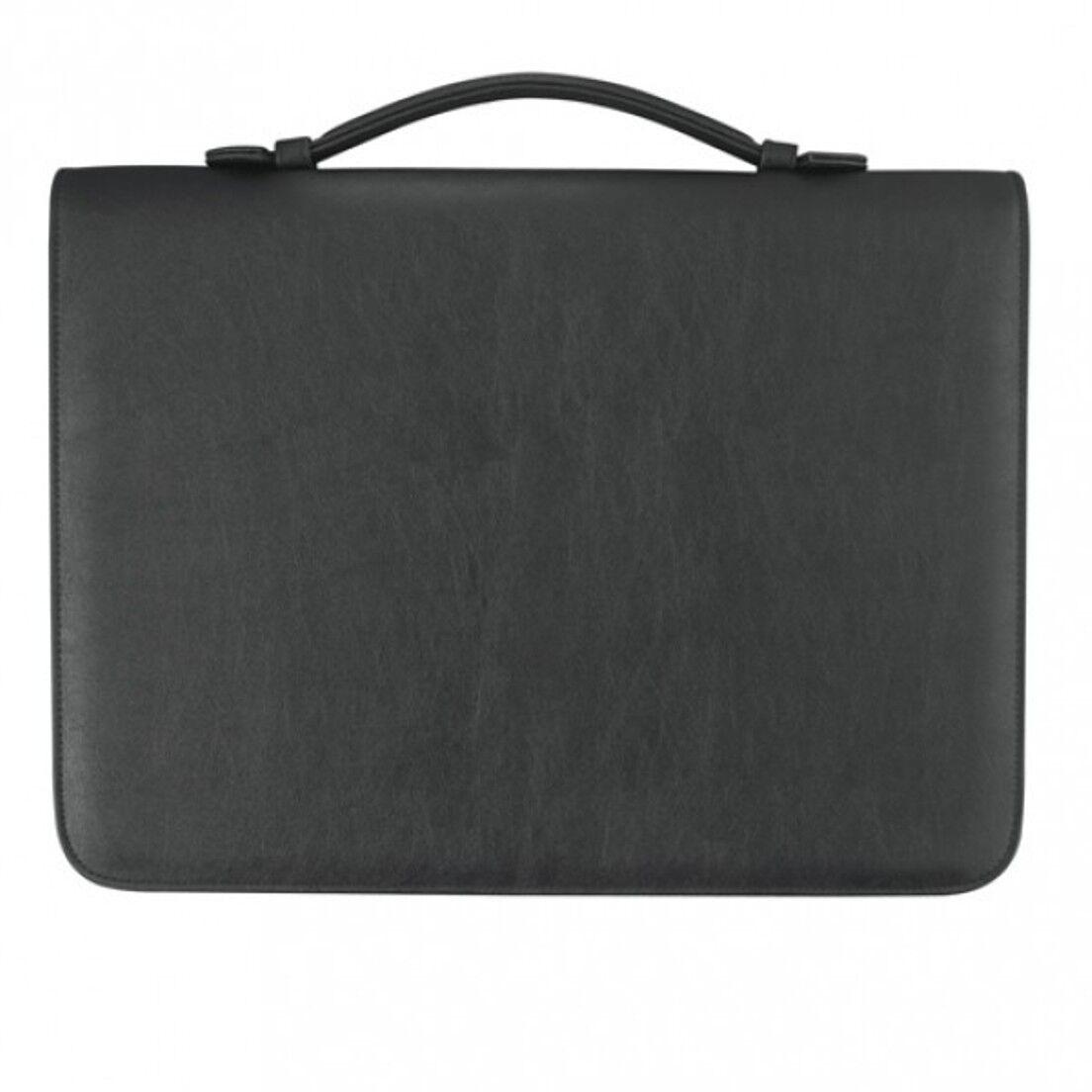 Verkaufsmappe A4 mit Reißverschluss, Kunstleder schwarz - von FIHA-Promotion | Zuverlässige Qualität  | Ich kann es nicht ablegen  | Ein Gleichgewicht zwischen Zähigkeit und Härte