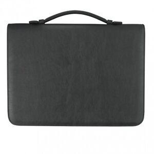 Verkaufsmappe-A4-mit-Reissverschluss-Kunstleder-schwarz-von-FIHA-Promotion