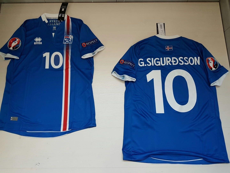 G. SIGURDSSON ISLANDE ISLANDE Ísland T-SHIRT JERSEY HAUT écusson