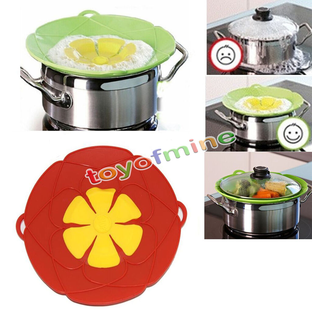 Kitchen Spills: Kitchen Gadgets Cooking Silicone Spill Stopper Lid Pan Pot