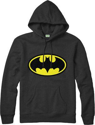 Ehrlich Batman Hoodie Traditional Symbol Hooded Jumper Dc Comics Inspired Logo Gift Top Einfach Und Leicht Zu Handhaben