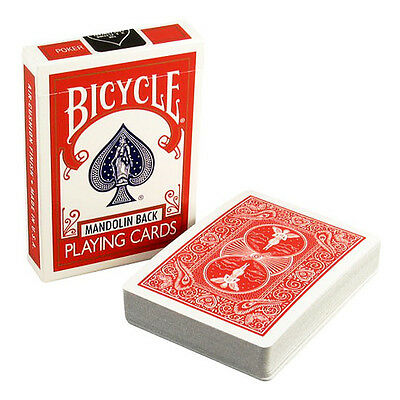 4 Decks Red Bicycle Mandolin Back Poker Playing Cards