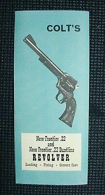 Colt Frontier Scout or Buntline Manual