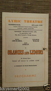 THEATRE-PROGRAMME-ORANGES-AND-LEMONS-Diana-Churchill-Elizabeth-Welch-Max-Adrian
