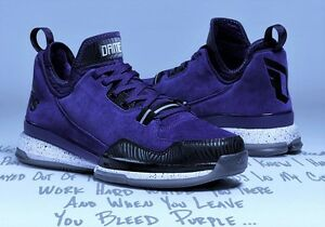 detailed look 679f5 f8b07 Image is loading ADIDAS-DAMIAN-D-LILLARD-BASKETBALL-TRAINERS-SHOES-SUEDE-
