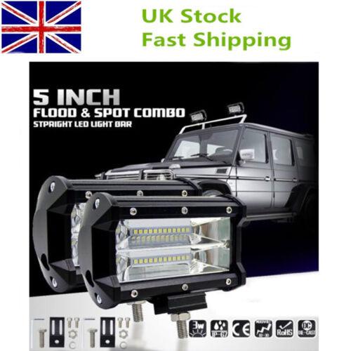 2× Car Truck LED Work Spot Light Flood Driving Bright Bulb SUV 72W 12V 24V 5in