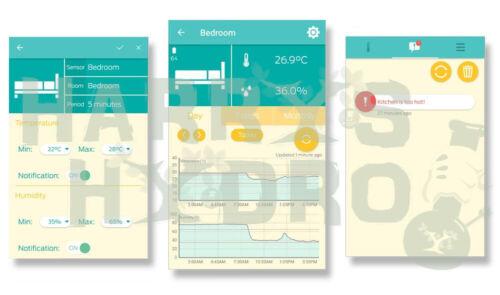 AirComfort Smart Bluetooth Temperature /& Humidity Sensor Grow room essential!