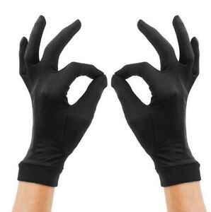 Pure Silk Black Liner Inner Thin Gloves Thermals Ski BikeMotorcycle Soft Sport