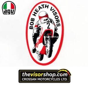 Bob Heath Motorcycle Helmet Visor BHV573 - AGV V10   GP1 - DARK TINT ... 889e810eff4ed