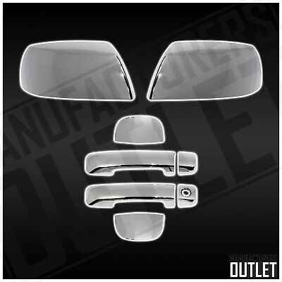 Gas 4 Doors For Toyota TUNDRA DOUBLE CAB 2007-2017 Chrome Covers Half Mirrors