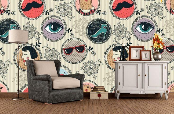 3D Cute Element Wall Paper Wall Print Wall Decal Wall Deco Indoor Wall Murals
