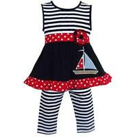 Annloren Boutique Striped Sailor Tunic And Leggings 12-18m Or 24m