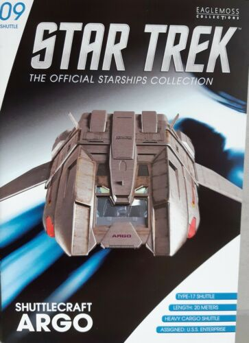 Star Trek Argo-Shuttle #9 from the U.S.S Eng. Enterprise ncc-1701-e EAGLEMOSS