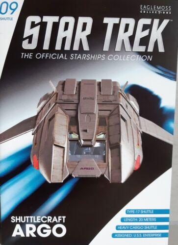 Star Trek Argo-Shuttle #9 from the U.S.S Eng. Enterprise ncc-1701-e EAGLEMOSS