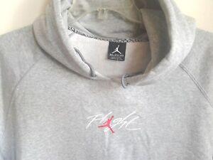7d2c0245ec Authentique Nike Air Jordan Flight Pull-Over Gris Sweat Capuche ...