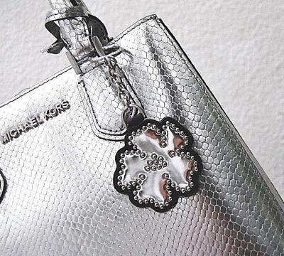 MICHAEL KORS Neu Key FOB Charms silber Flower Schlüssel Anhänger Tasche MK | eBay