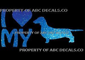 Details about VRS LOVE My Dog DACHSHUND WIENER Heart Puppy Adoption CAR  DECAL METAL STICKER