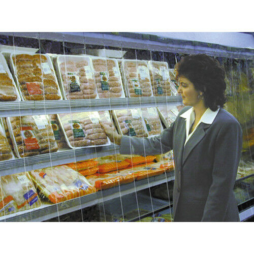Strip Curtain for Upright Refrigerated Display Case Size 48W x 68H