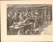 Japan Russo-Japanese War Battle Pyongyang Russia FRANCE GRAVURE OLD PRINT 1894