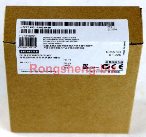 1PC Siemens 6ES7 153-1AA03-0XB0 6ES7153-1AA03-0XB0 PLC New in Box #RS01