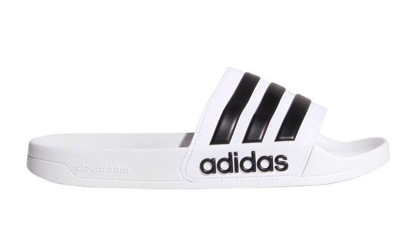 3679d8a4420 New adidas Men's Adilette CloudFoam Slides White Sandals Sport Sport Sport  Beach Slippers CF b27bcf