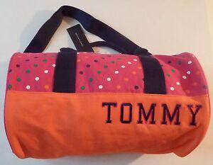 44e3539e4 Image is loading Tommy-Hilfiger-Polka-Dots-Mini-Duffle-Bag