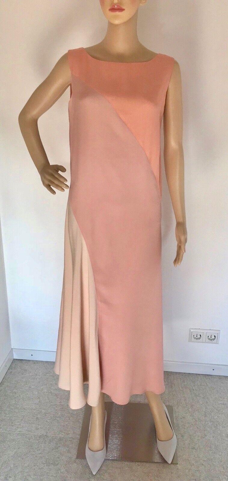ESCADA Maxi Kleid Festkleid Seidig asymmetrisch Gr. 36 Neu