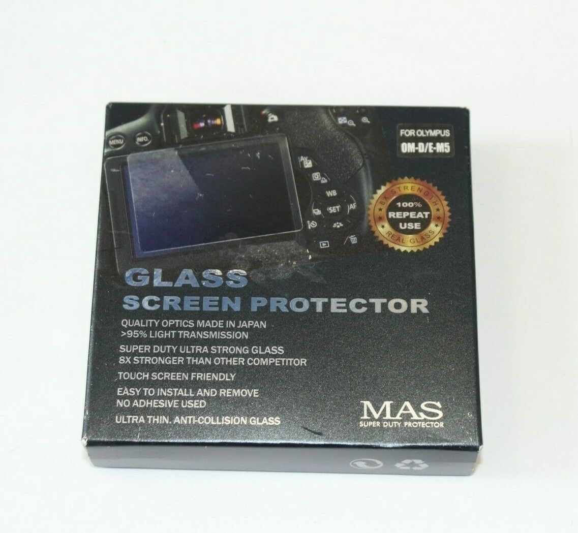 MAS Glass LCD Protector for Olympus OM-D E-M5 and E-M10 Mark II Cameras