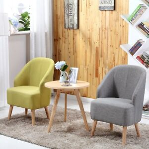 Set of 2 Space Saving Fabric Club Chair Accent Chairs Home ...