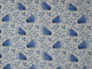 WILLIAM-MORRIS-CURTAIN-FABRIC-DESIGN-034-Swans-034-3-METRES-DEFLT-BLUE-LINEN-UNION