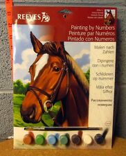 REEVES import Horse Portrait paint-by-numbers NWT art set 1990s