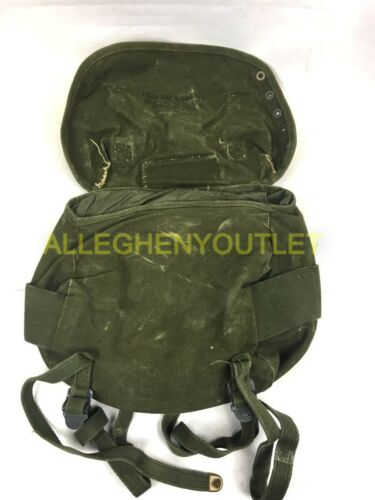 US Military M-1961 Canvas Field Pack Butt Pack OD Green VGC