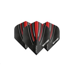 WINMAU PRISM ALPHA 100 Micron UV Translucent Dart Flights Black /& Red