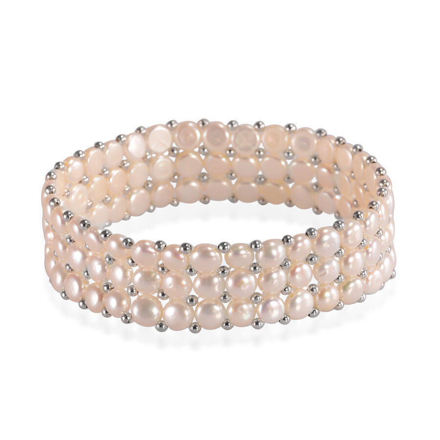 Freshwater Pearl 3 Row Bracelet (Stretchable)