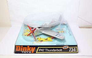 Dinky-734-P47-Thunderbolt-avion-en-su-caja-original-casi-Nuevo-Vintage-Raro