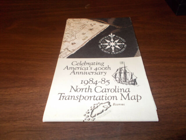 1984-85 North Carolina State-issued Vintage Road Map