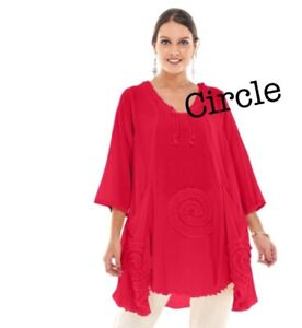 NEW-Oh-My-Gauze-Circle-Crimson-Red-and-Sizes-O-S-100-Cotton