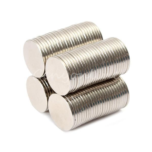 100Pcs Super Strong Round Disc Disk N50 Rare Earth Neodymium Magnets 12 X 1mm
