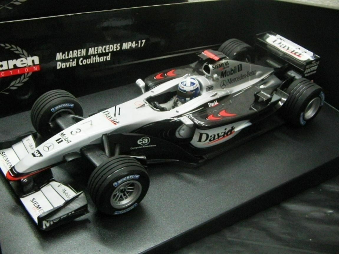 WOW EXTREMELY RARE McLaren MP4 17 17 17 David Coulthard French GP 2002 1 18 Minichamps 0c6659