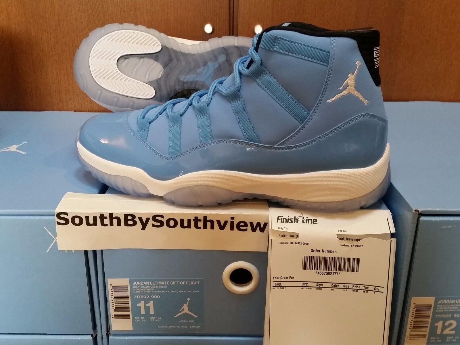 Nike air jordan 11 des blauen w / eingang xi retro - carolina unc - baby 717602-900
