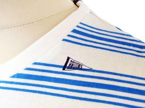 """Promotion écru h170 Homme UCLA /""""Shelby/"""" rétro à rayures /& Drapeau Imprimer T-Shirt"""