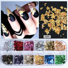 Nail Sequins Flakes Nail Art Decoration Gold Foil Aluminum Nail Art Accessories