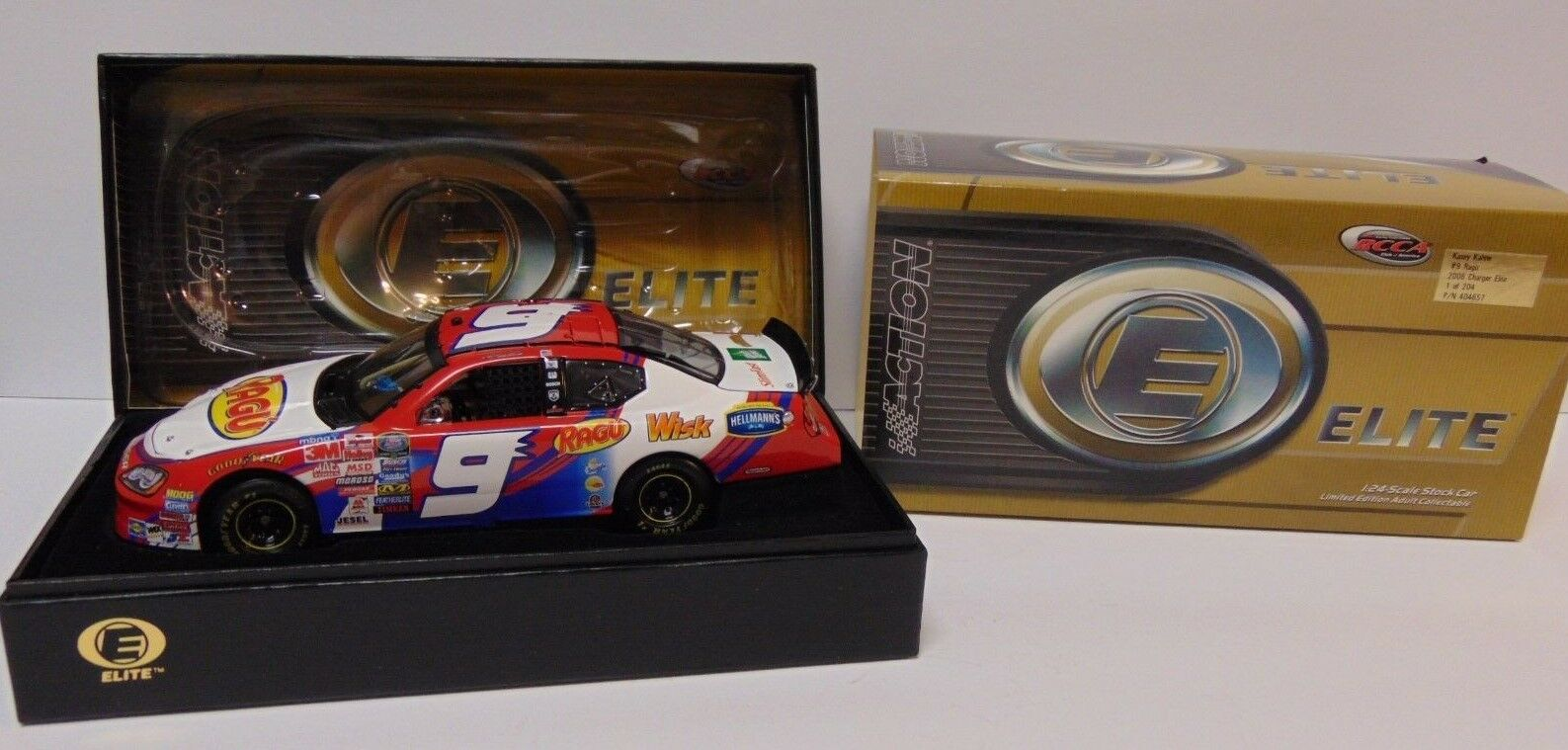 1 OF 204 RARE 2006 KASEY KAHNE  9 RAGU NASCAR ACTION ELITE 1 24 SCALE DIECAST