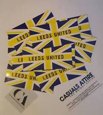 Leeds United 10x5cm 25 pack of Ultras Football Stickers Brand New.