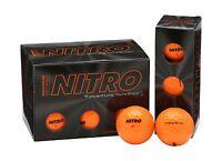 Nitro Max Distance Golf Balls Orange Free Shipping