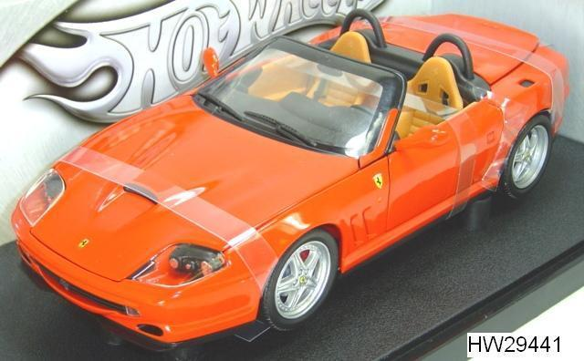 2005 FERRARI 550 BARCHETTA rouge HOT WHEELS BASE MODEL 1 18 BLOWOUT FREE SHIPPING