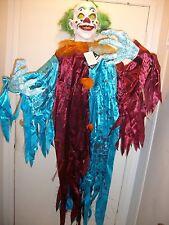 Halloween prop QUALITY LIGHT UP 6FT TALL HANGING EVIL CLOWN. CREEPY. NEW.