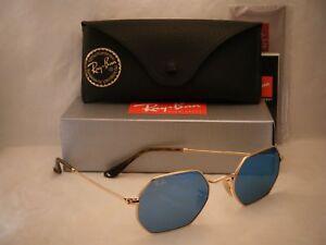 88d78e108c Ray Ban 3556N Gold w Light Blue Mirror Lens (RB3556N 001 90 ...