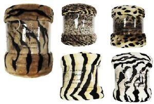 Lujo-Piel-Animal-Manta-Polar-Calido-Suave-tiro-Piel-Cama-Sofa-Manta-Cobertor